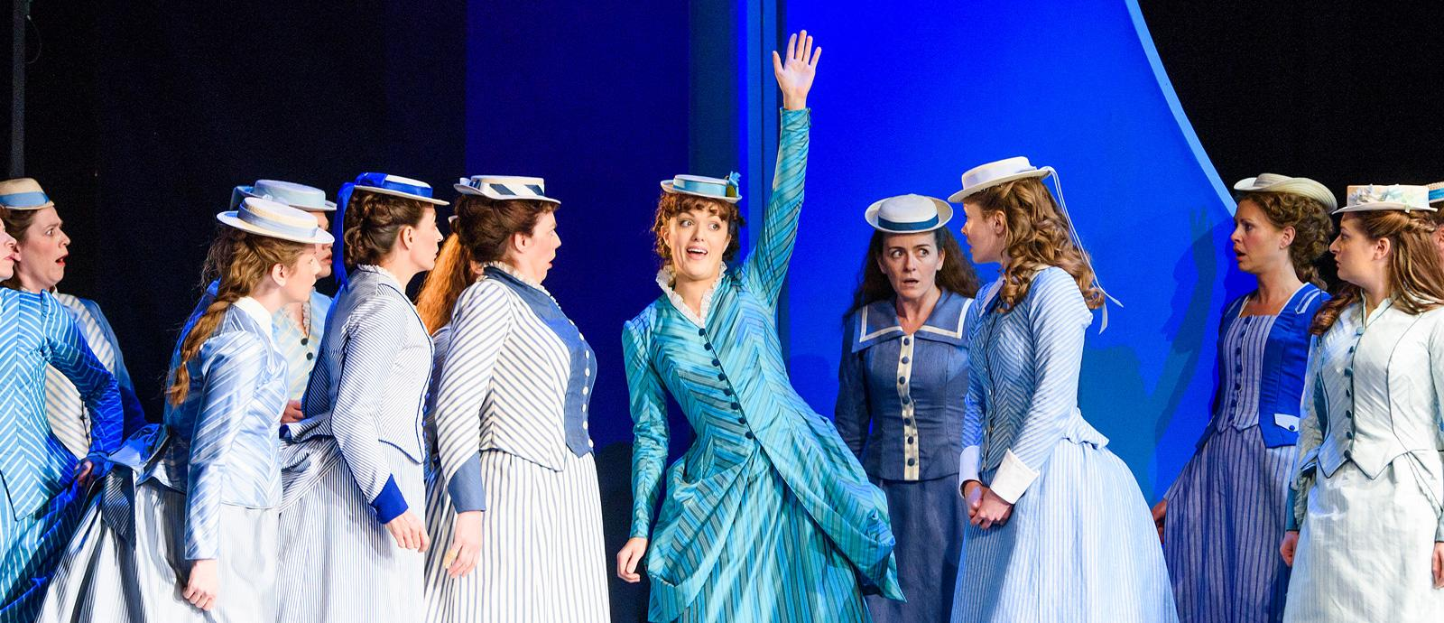 ENO's The Pirates of Penzance - Claudia Boyle as Mabel and Company. Photo by Tristram Kenton