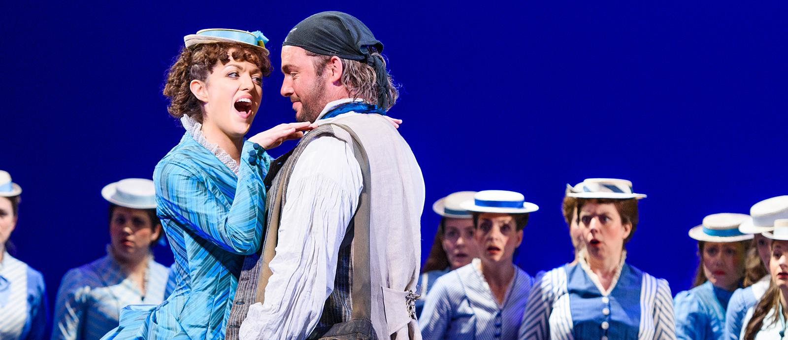 ENO's The Pirates of Penzance - Claudia Boyle as Mabel and Robert Murray as Frederic. Photo by Tristram Kenton