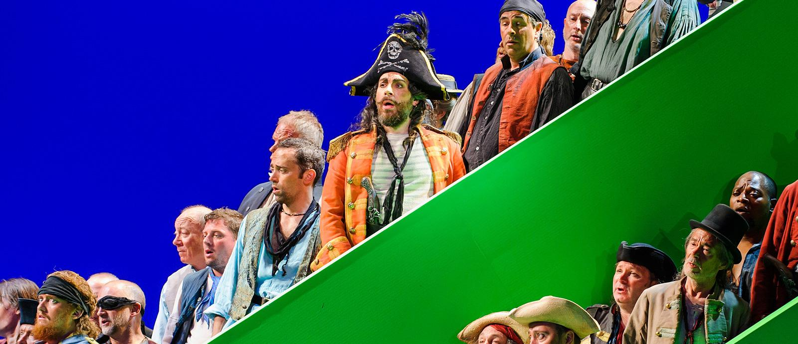 ENO's The Pirates of Penzance - Company. Photo by Tristram Kenton