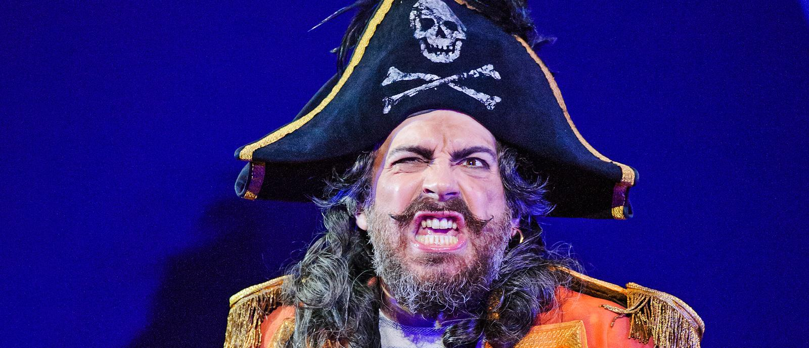 ENO's The Pirates of Penzance - Joshua Bloom as the Pirate King . Photo by Tristram Kenton