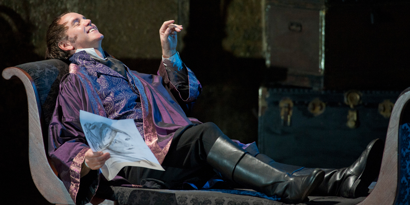 ENO's Tosca - Anthony Michaels Moore as Scarpia. Photo by Mike Hoban