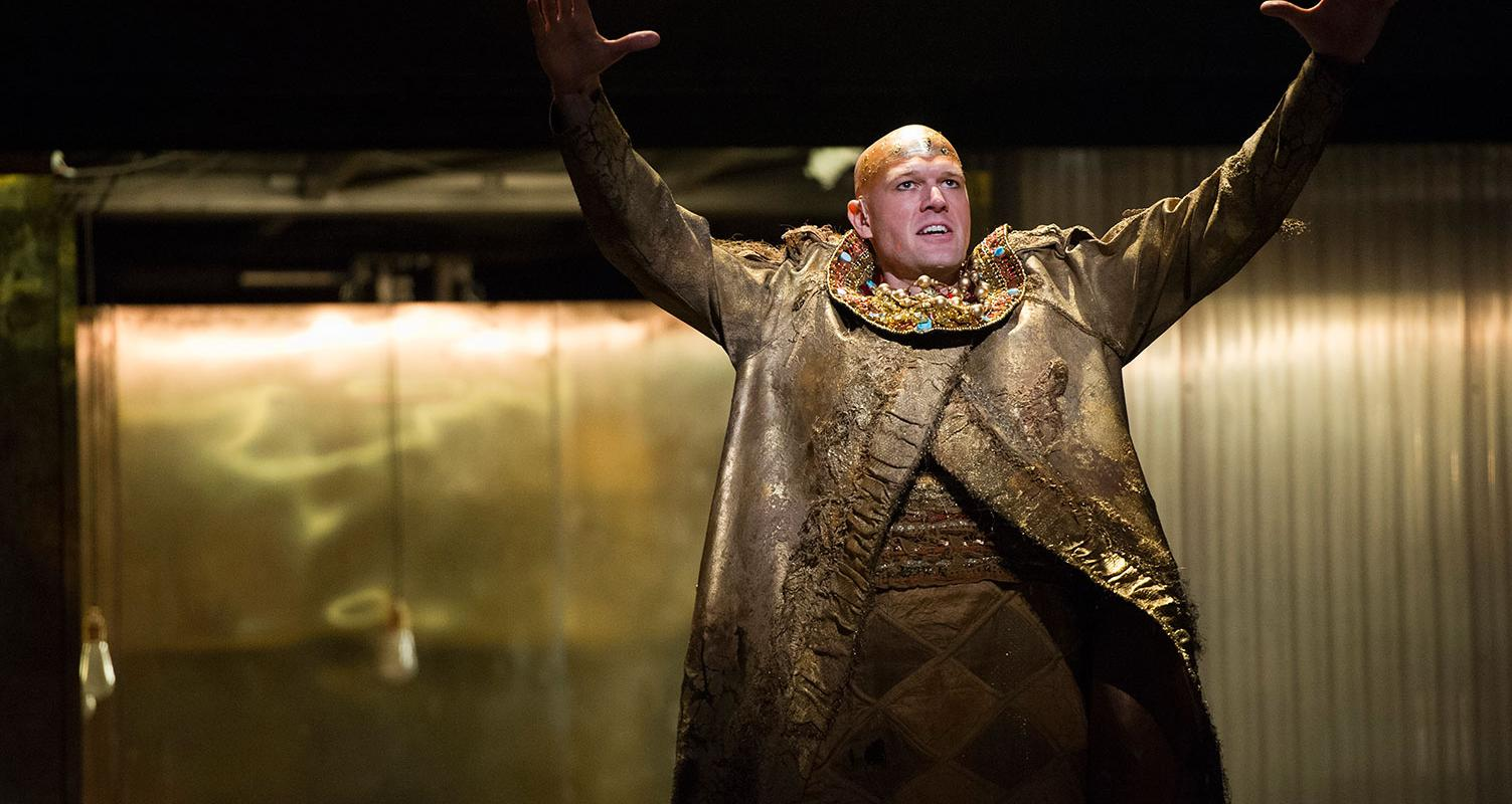 Zachary James as The Scribe in Akhnaten. Picture by Richard Hubert Smith