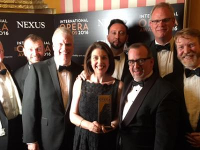 ENO Chorus who won the Chorus Award at the International Opera Awards held on Sunday 15 May