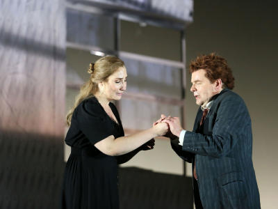 Laura wilde and peter hoare performing in ENO's Jenufa