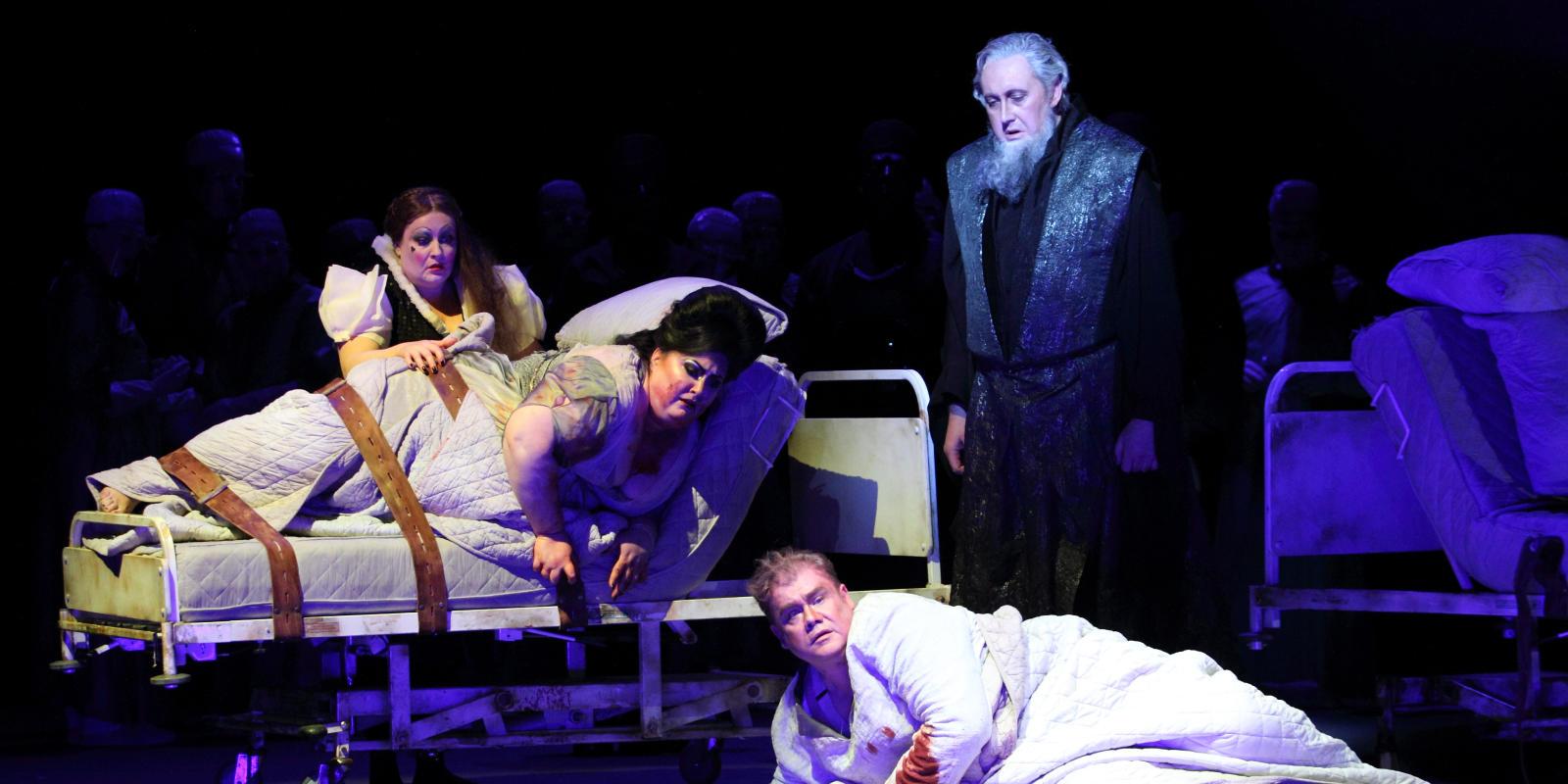 ENO Tristan & Isolde: Karen Cargill, Heidi Melton, Stuart Skelton and Matthew Rose (c) Catherine Ashmore
