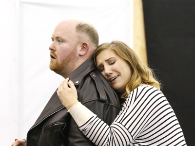 ENO Jenufa Rehearsal Laura Wilde and Nicky Spence (c) Donald Cooper