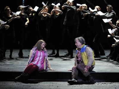 ENO 1516 The Magic Flute - Soraya Mafi and Peter Coleman-Wright, Company (c) Robbie Jack