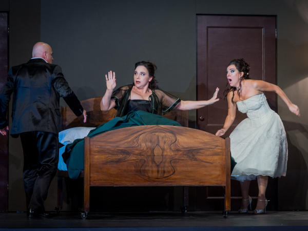 Christopher Purves as Don-Giovanni with Christine Rice, Mary Bevan and Robert Workman