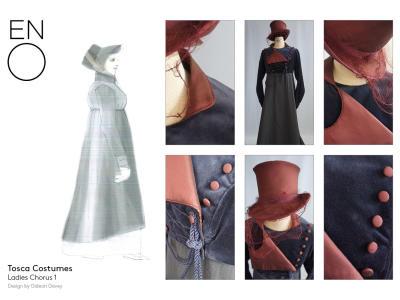 ENO's Tosca costume design illustrations