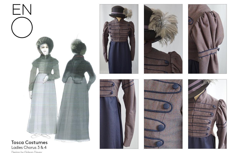 Tosca female costume design