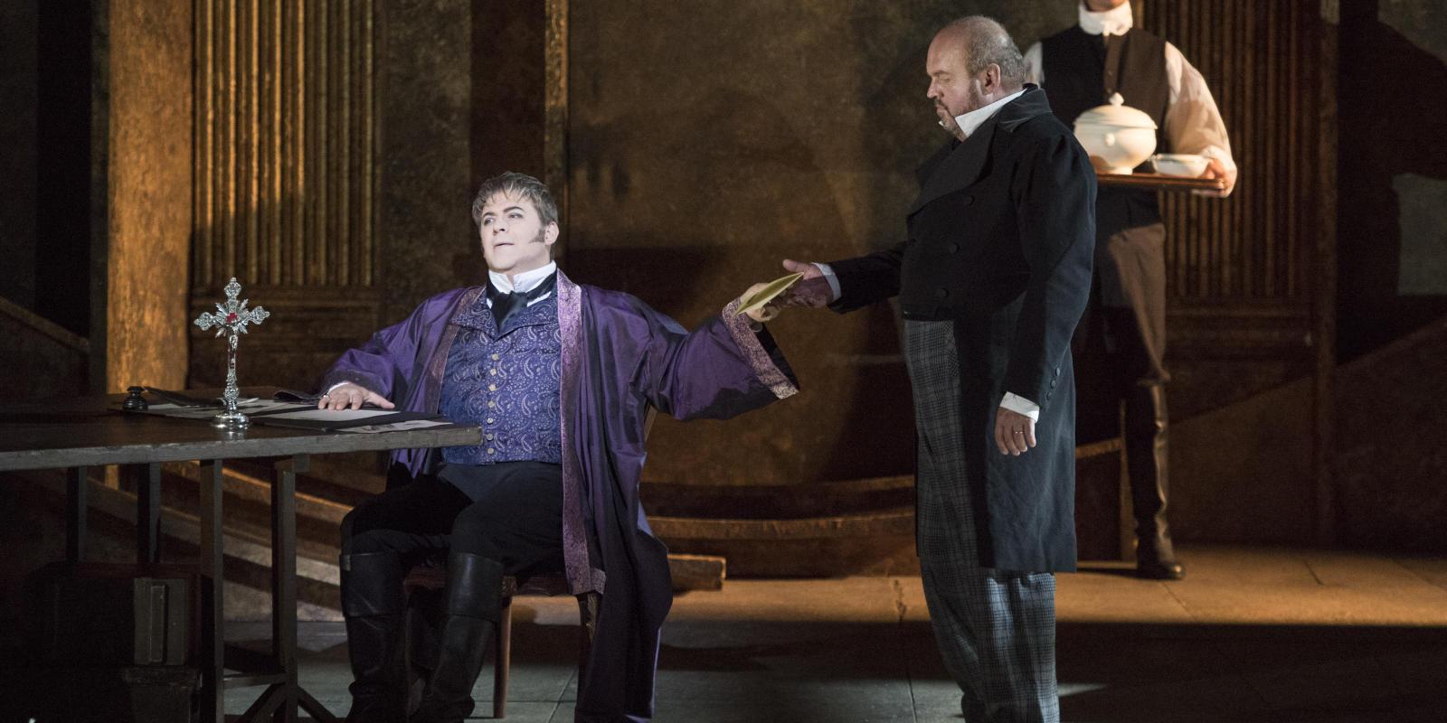 Craig Colclough, Richard Hubert Smithand Graeme Danby in ENO's Tosca
