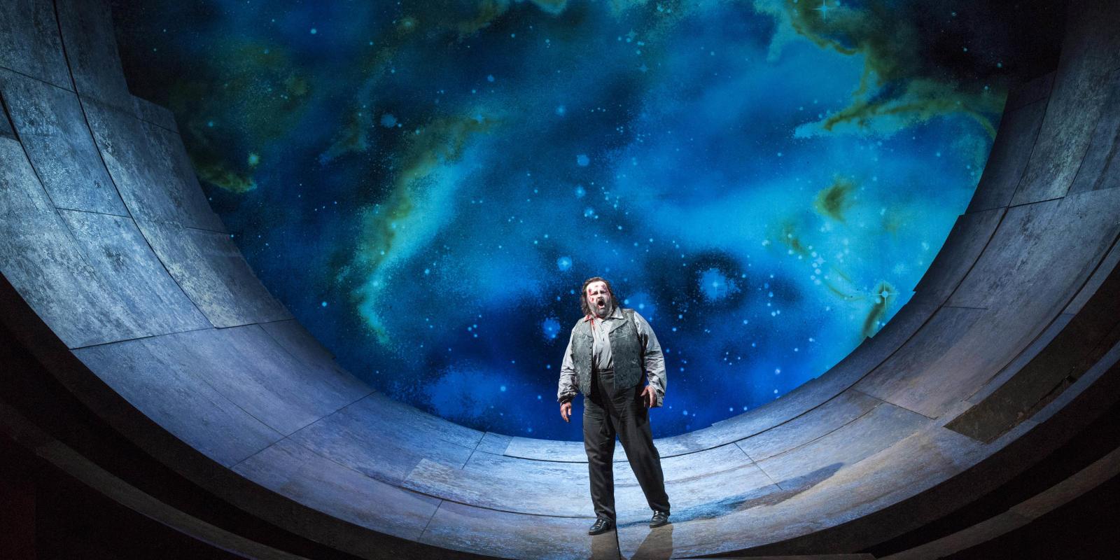 Gwyn Hughes Jones as Cavaradossi performing in ENO's Tosca