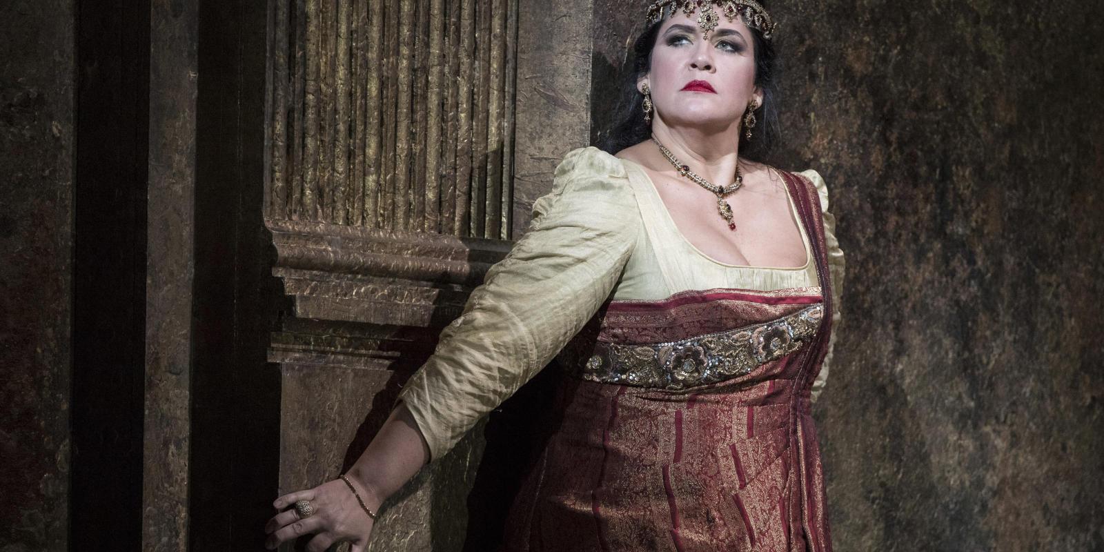 Keri Alkema as Tosca performing in ENO's Tosca