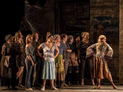 the winters tale eno chorus on stage with samantha price