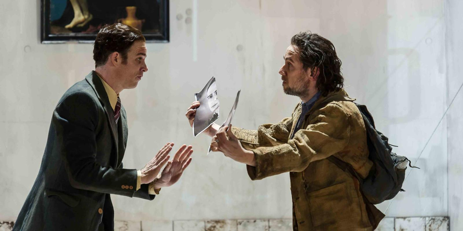 An image of Christopher Ainslie and Iestyn Davies in Richard Jones's 2014 production of Rodelinda