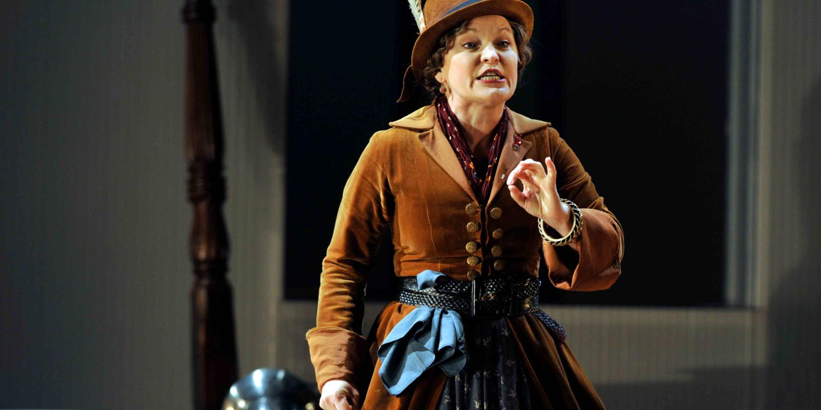 An image of Lucy Schaufer in Fiona Shaw's 2014 production The Marriage of Figaro