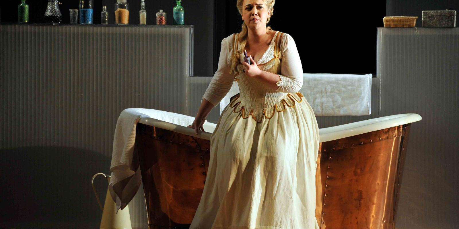 An image of Sarah Jane Brandon in Fiona Shaw's 2014 production of The Marriage of Figaro