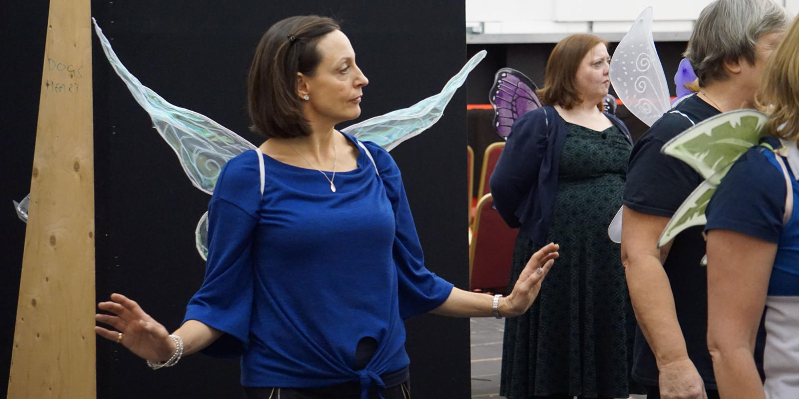 ENO Iolanthe: ENO chorus member Jane Read as a fairy