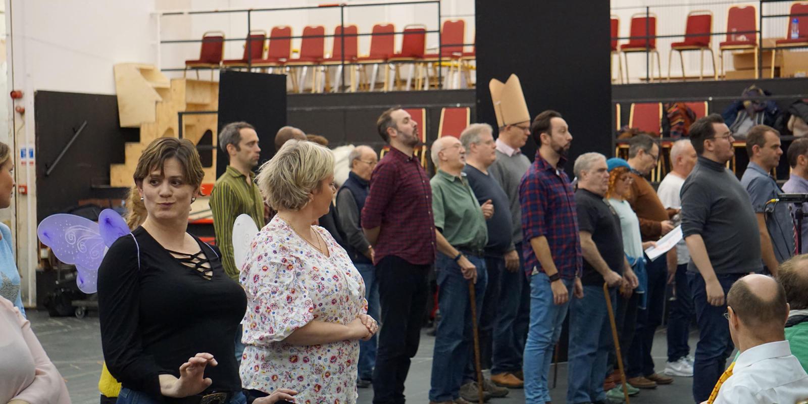 ENO Iolanthe: members of the ENO Chorus