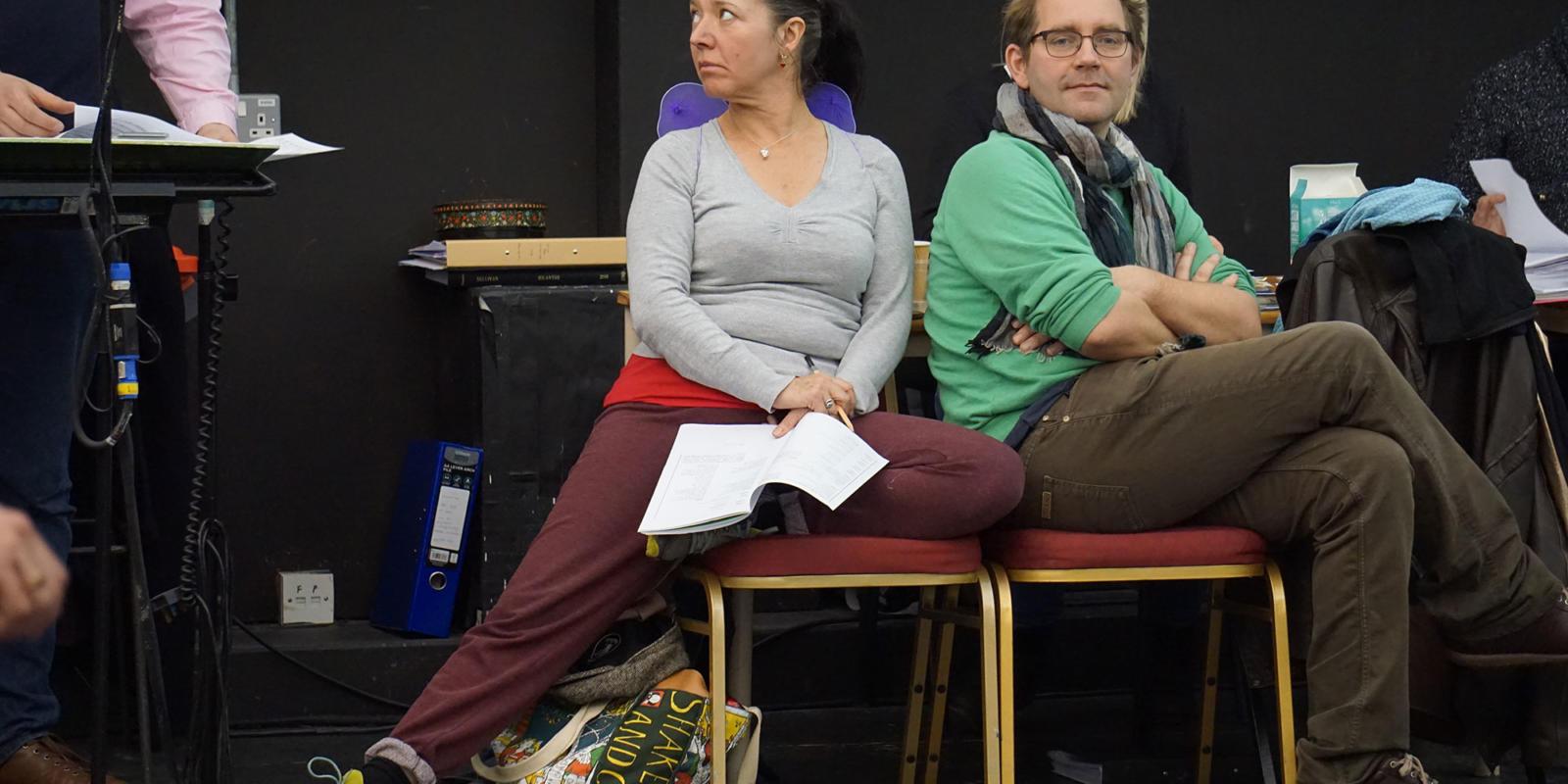 ENO Iolanthe: Flick Ferdinando takes a break during rehearsals