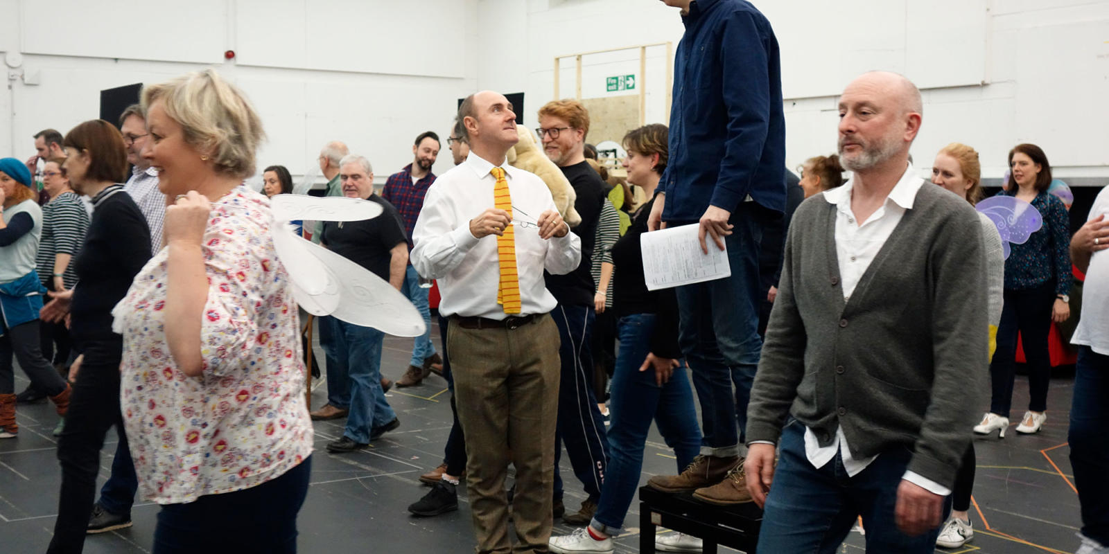 ENO Iolanthe: Director Cal McCrystal talking to Actor Richard Leeming