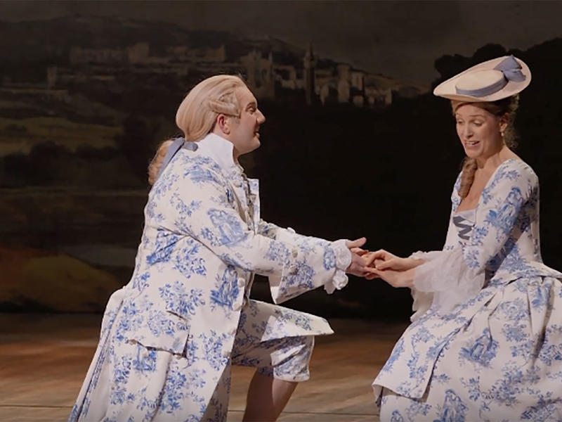 Marcus Farnsworth and Ellie Laugharne sing None Shall Part Us from Cal McCrystal's production of Gilbert and Sullivan's Iolanthe