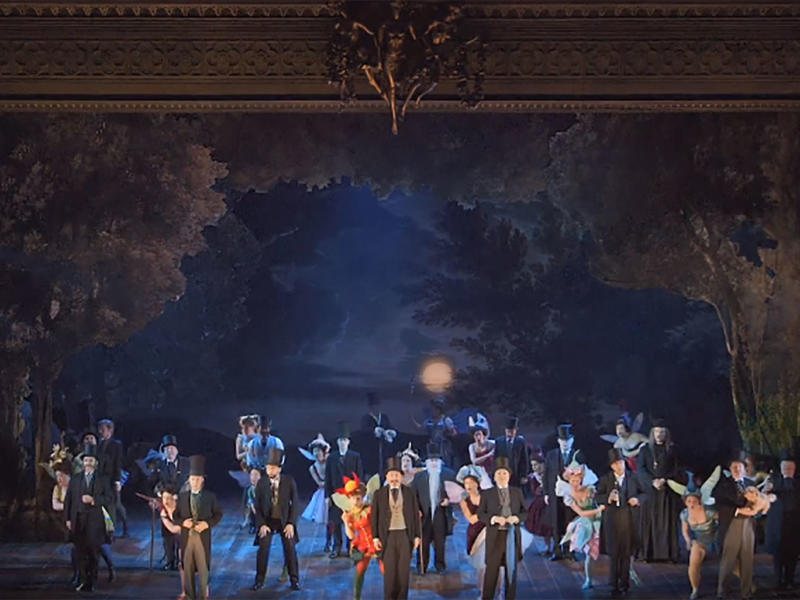 Members of the Cast and Chorus performing With Strephon for your foe from Gilbert & Sullivan's Iolanthe