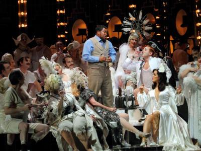 ENO Traviata Heather Shipp, Lukhanyo Moyake, Aled Hall and Claudia Boyle (c) Catherine Ashmore