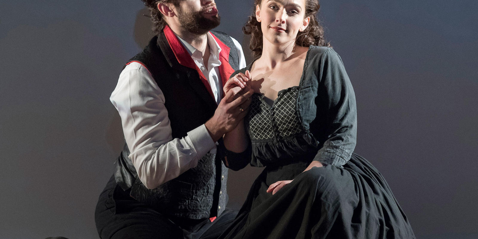 ENO 17/18: The Marriage of Figaro Ashley Riches Rhian Lois (c) Alastair Muir