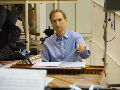 ENO Studio Live: Acis and Galatea - Conductor Nicholas Ansdell-Evans on the Harpsichord