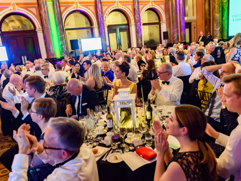 guests clapping their hands at ENO gala dinner
