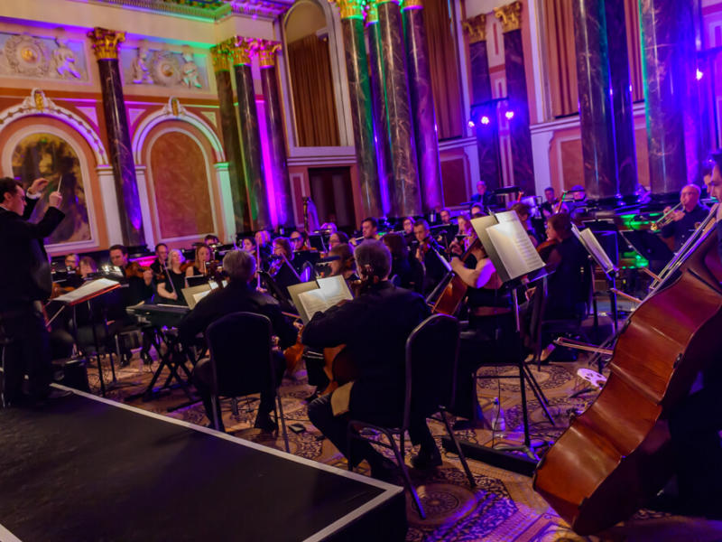 orchestra playing at ENO gala dinner