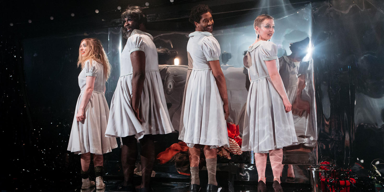 ENO and the Gate Theatre: Effigies of Wickednes Lucy McCormick, Le Gateau Chocolat, Peter Brathwaite, Katie Bray (c) Helen Murray.