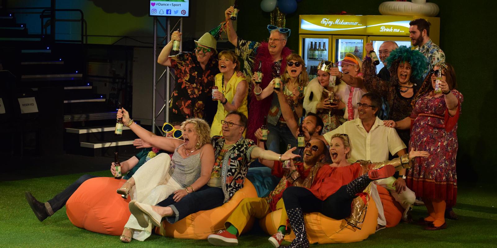 ENO Studio Live: Acis and Galatea ENO Chorus members pose for a group picture (c) Dani Harvey