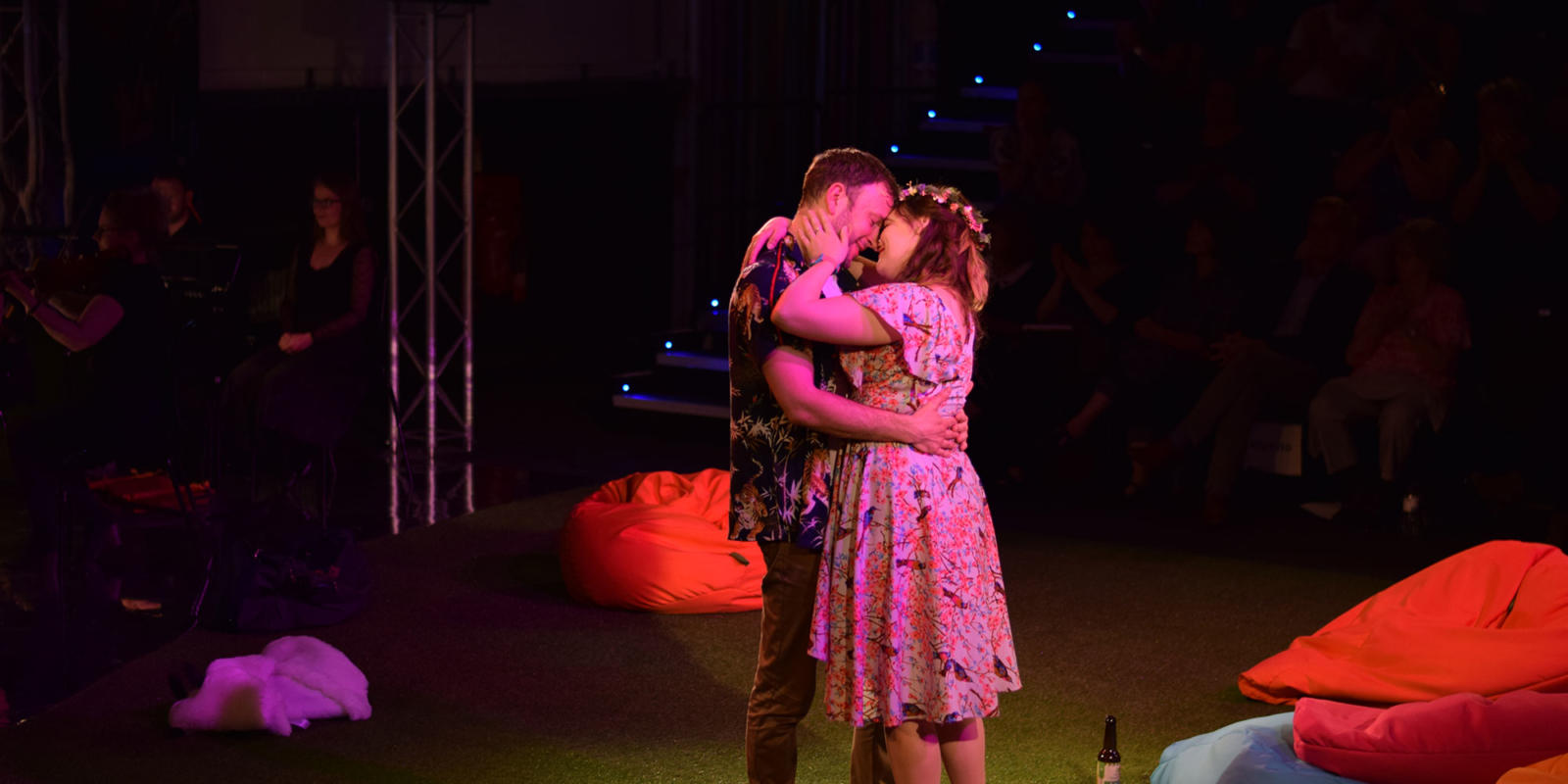 ENO Studio Live: Acis and Galatea Lucy Hall as Galatea Alexander Sprague and Acis (c) Dani Harvey