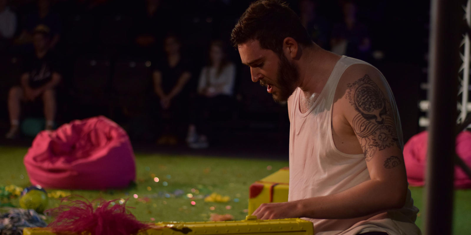 ENO Studio Live: Acis and Galatea Matthew Durkan as Polyphemus (c) Dani Harvey