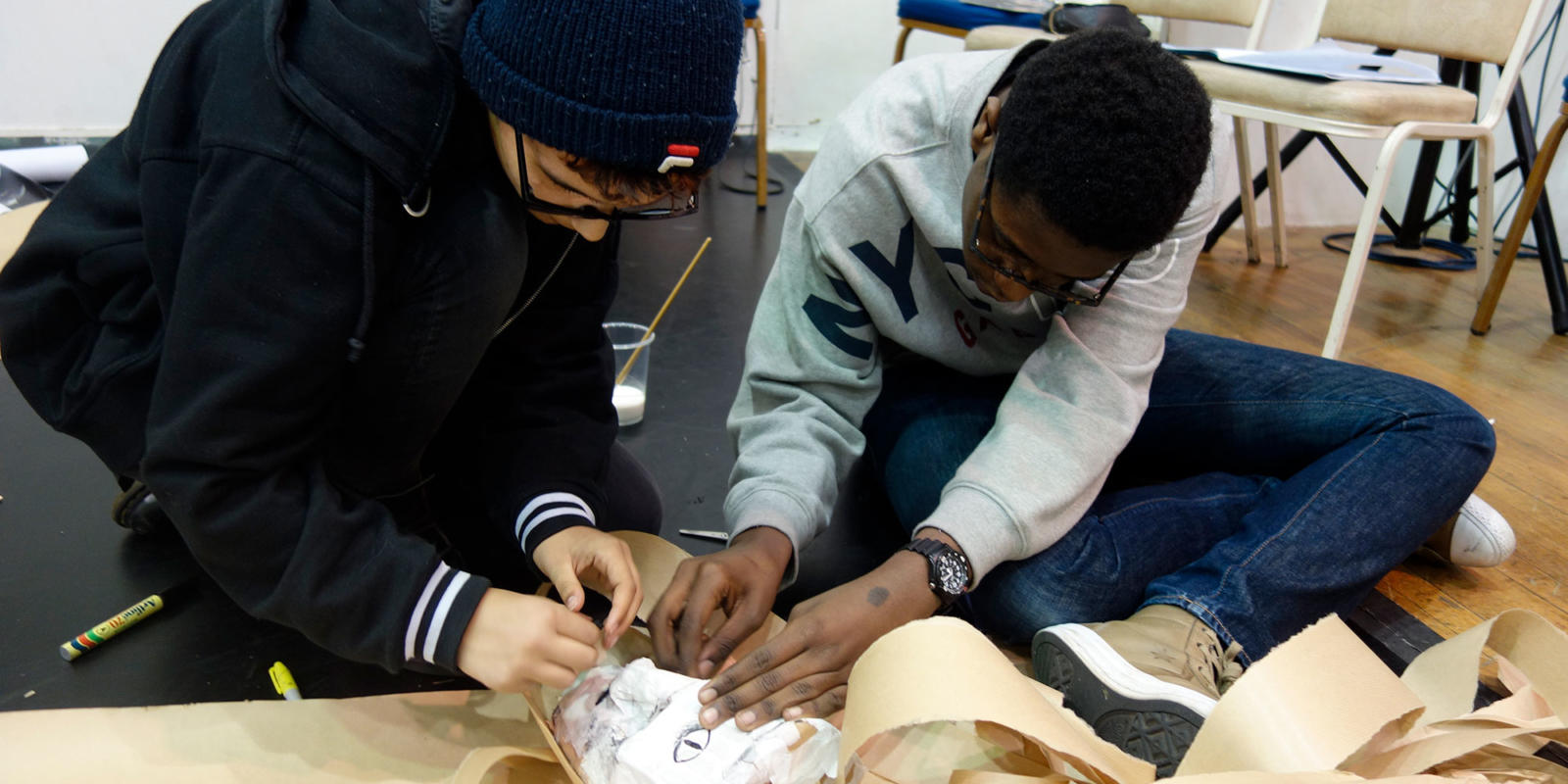 Creating masks in response to ENOs production of Satyagraha February 2018