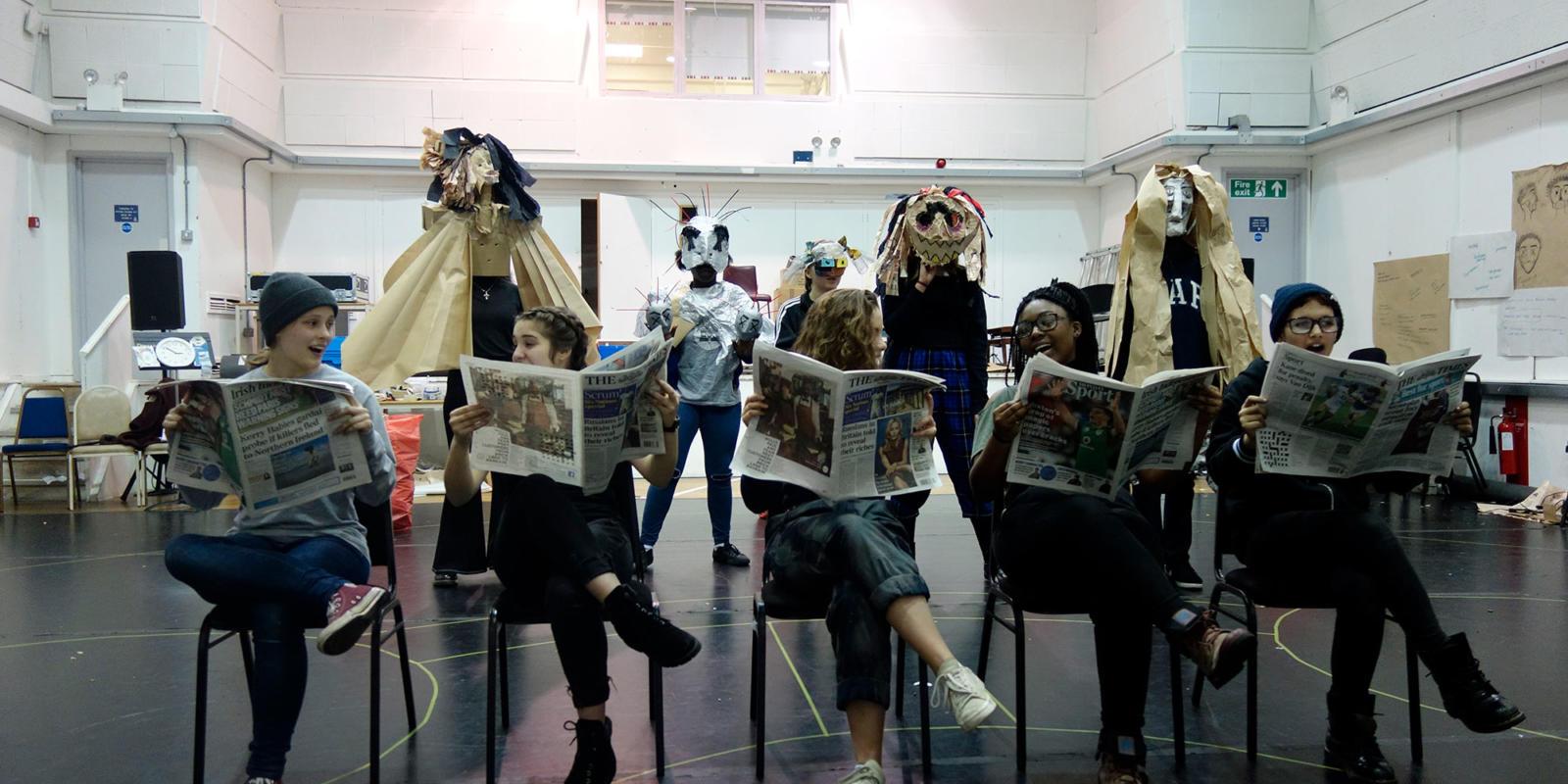 ENO Youth Company 2017/18 - sharing performance inspired by Philip Glass' opera Satyagraha