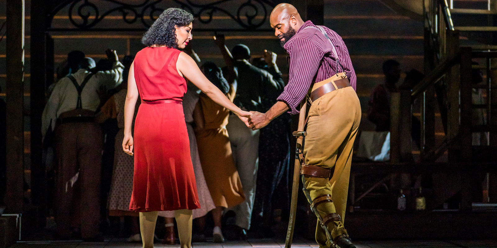 ENO Porgy and Bess: Nicole Cabell Eric Greene (c) Tristram Kenton