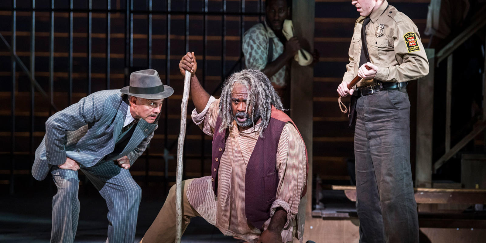 ENO Porgy and Bess: Stephen Pallister Ronald Samm Christian Hurst (c) Tristram Kenton