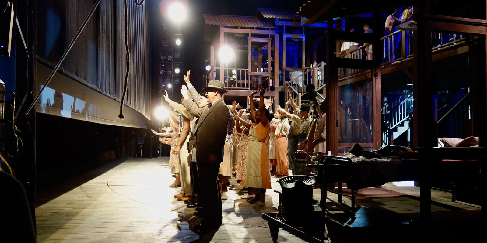 The curtain comes down on Porgy and Bess ensemble during their curtain call