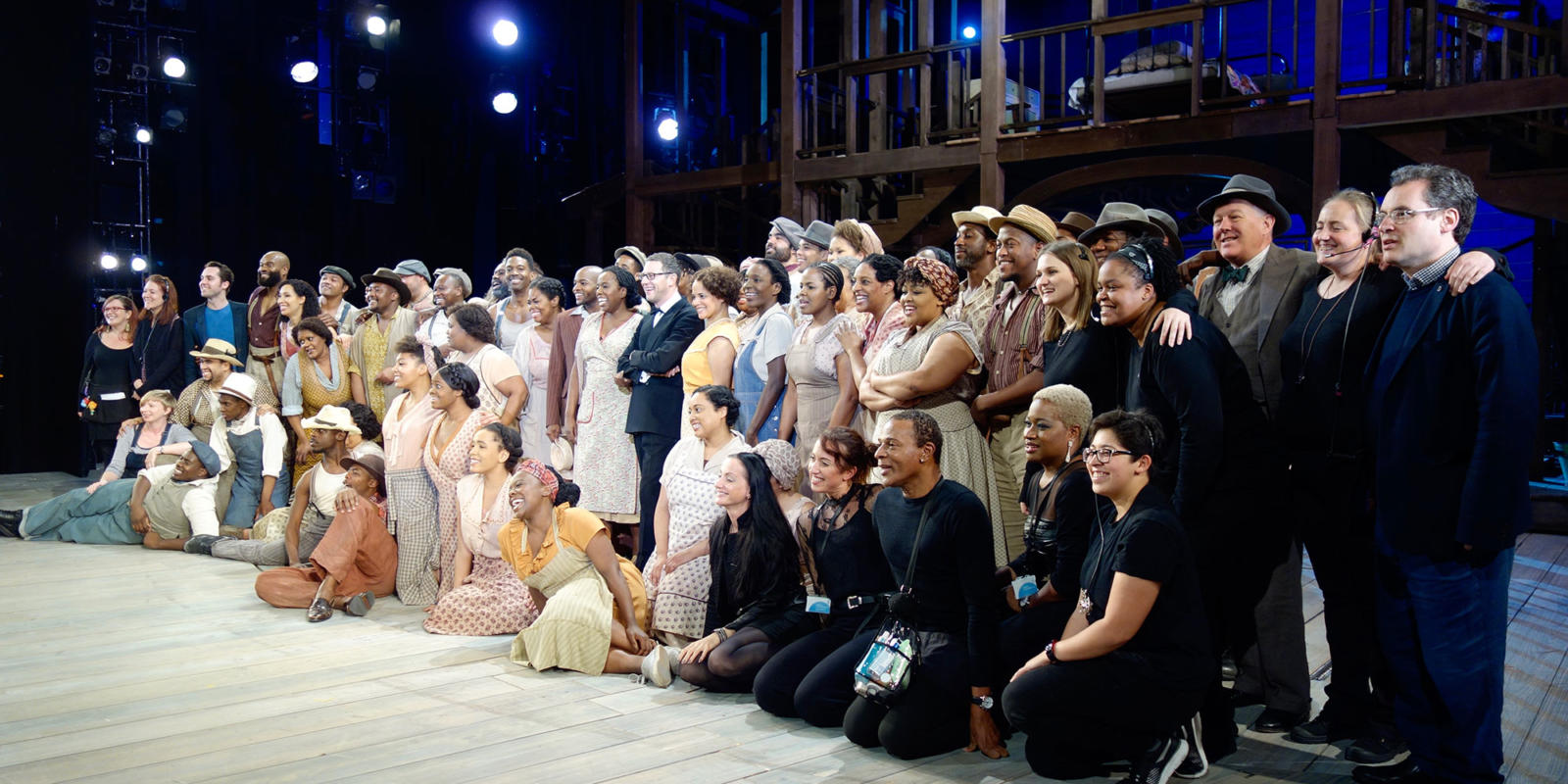 ENO Porgy and Bess: cast and crew posing for a group photo