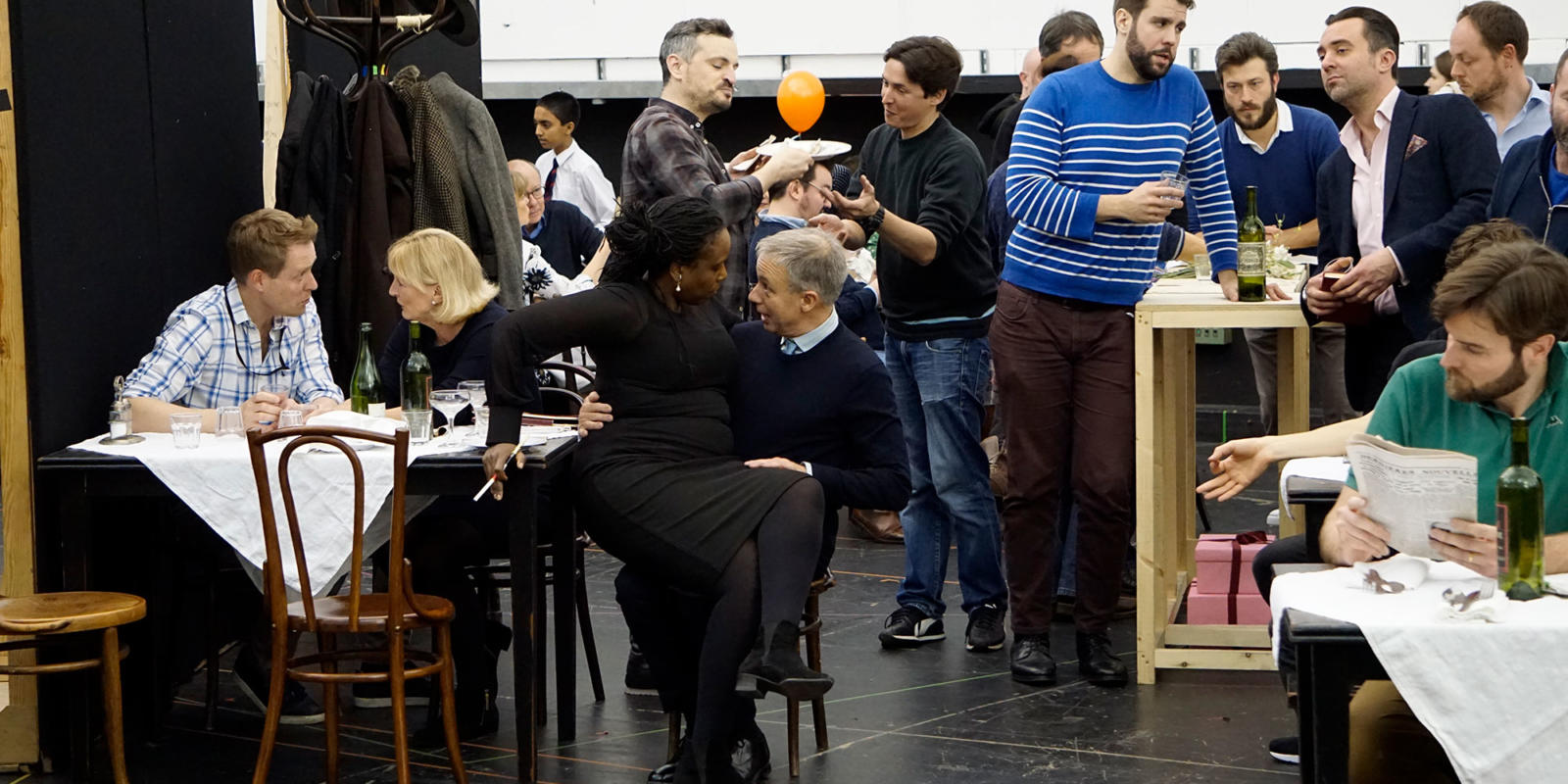 ENO La bohème rehearsals: Nadine Benjamin Simon Butteriss
