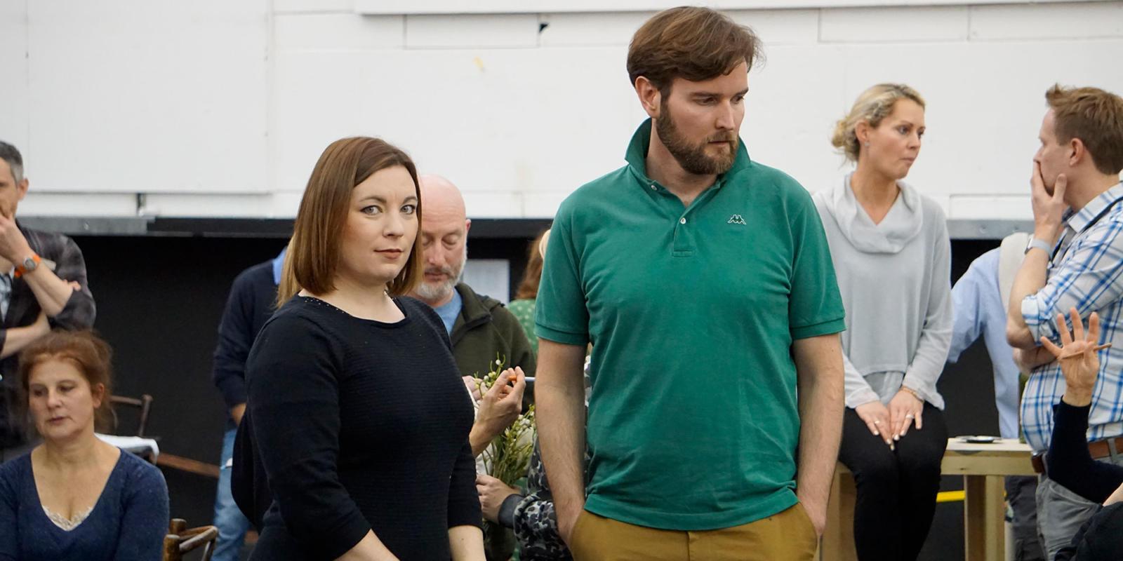 ENO La bohème rehearsals: Natalya Romaniw who sings Mimi and Nicholas Lester who sings Marcello