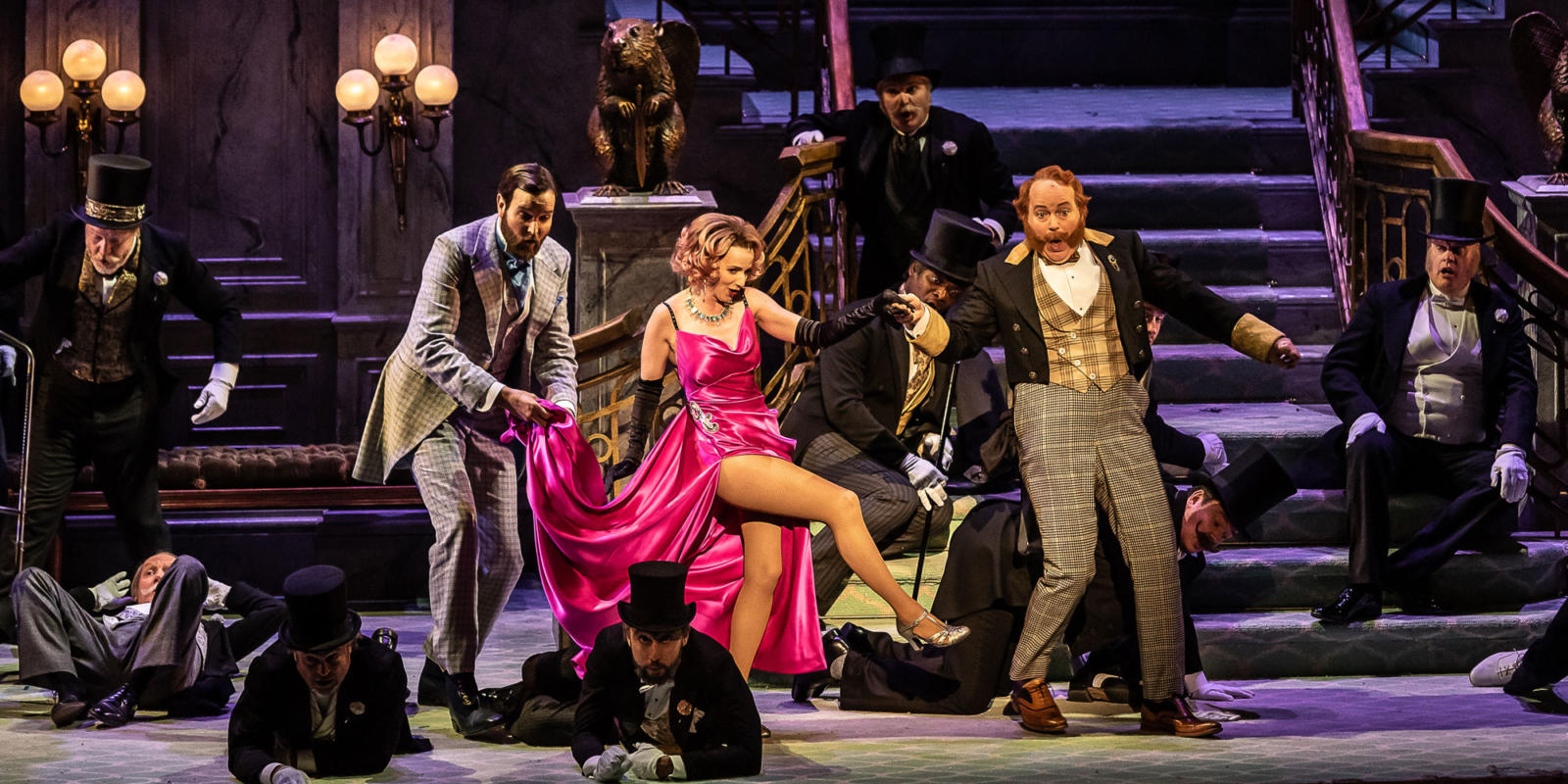 ENO The Merry Widow: Sarah Tynan, Nicholas Lester and Andrew Shore (c) Clive-Barda