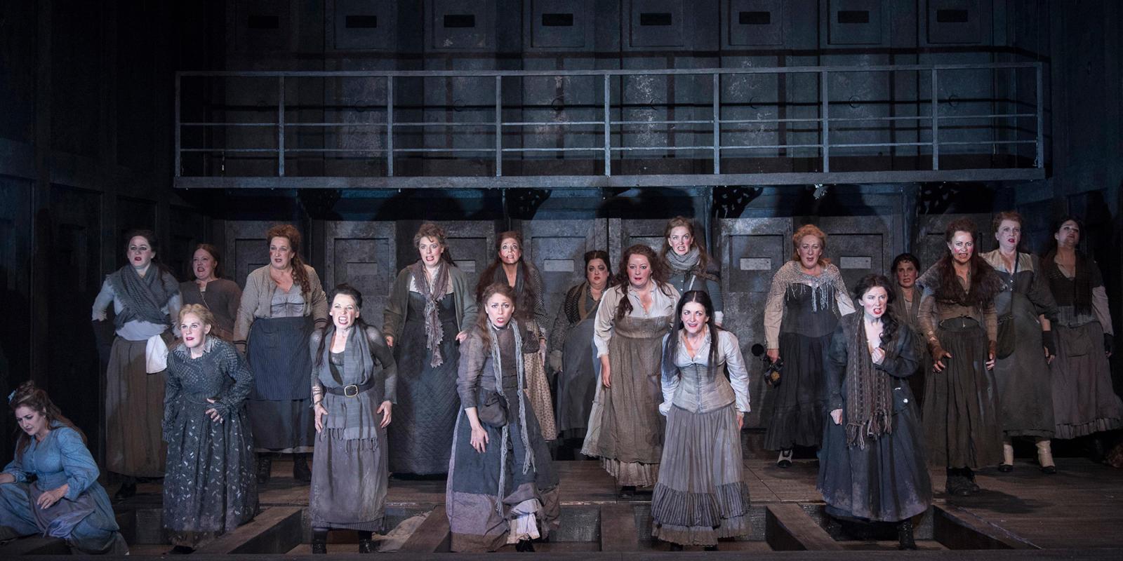 ENO 2018/19 Jack the Ripper: The Women of Whitechapel: ENO Chorus members © Alastair Muir