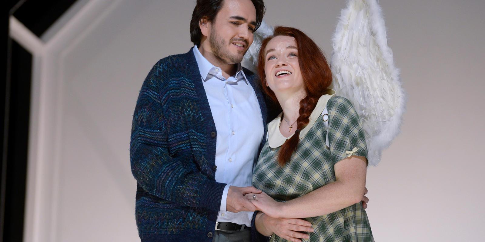 ENO1920 Luisa Miller: Rodrigo Porras Garulo as Rodolfo and Izabela Matula in Oper Wuppertal's production (c) Jens Grossmann