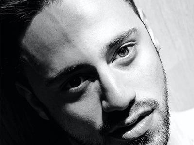 black and white portrait of Stefano De Luca