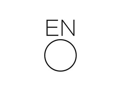 ENO logo with black text and white background