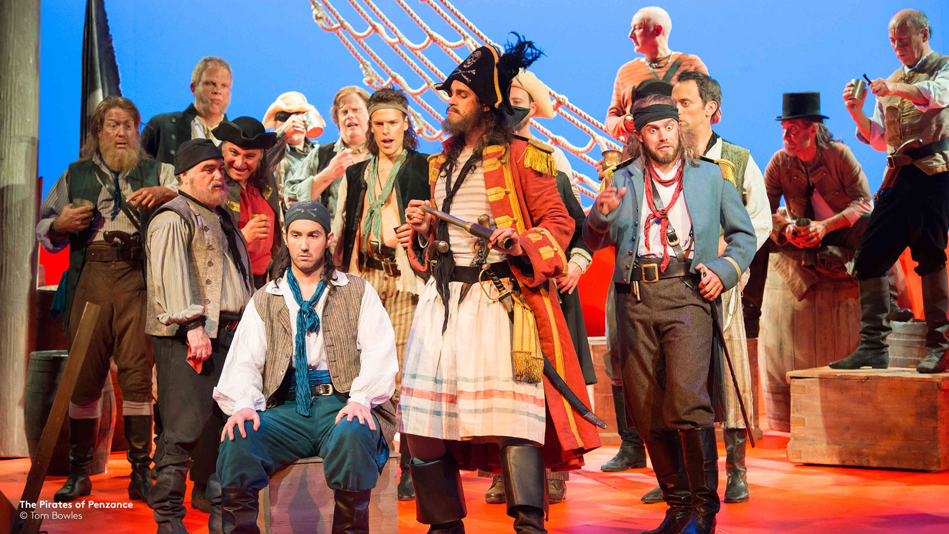 pirates on deck from ENO's Pirates of Penzance